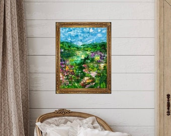 Medium Painting / 16x20 / Original Art / Abstract Painting / Abstract Landscape / Handmade / Wall Art / Decor / Palette Knife / Canvas