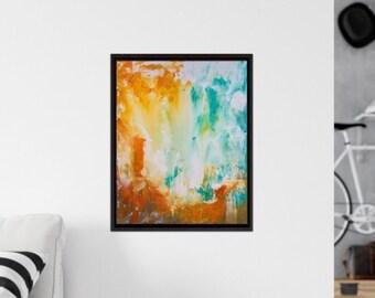 Original Abstract Painting / Canvas Painting Original / 16x20 / Medium / Wall Art / Decor / Bright Painting / Acrylic / Minnesota Made / Art