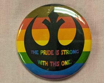 Gay Pride Rebel Alliance Button