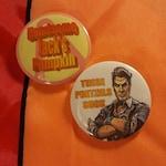 Set of Two Handsome Jack Borderlands Buttons