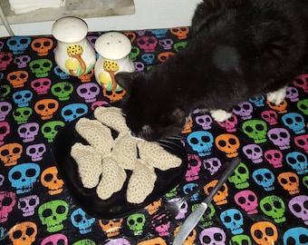 Crochet Catnip Pierogi Kitty Toy