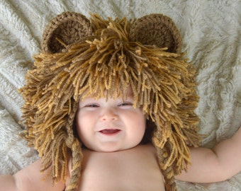 Lion Hat - Baby Lion Wig - Halloween Costume Lion Hats Costumes for Kids dd71acf2f865