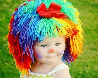 Clown Costume Halloween Costumes Baby Hat Baby Girl Clown Wig Pageant  Clothes Colorful Wig Toddler Costume Photo Prop Dress Up Clothes Kids 6a0ba7876