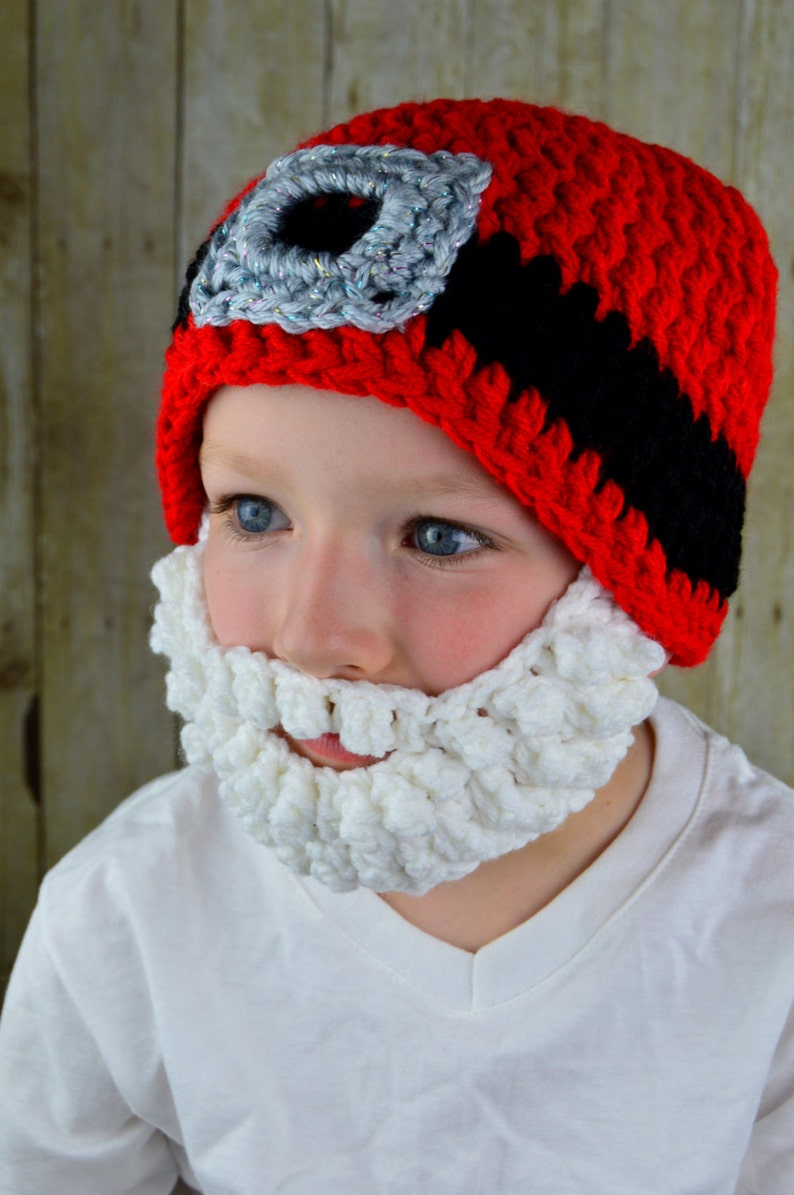380d7325 Santa Hat Santa Claus Beard Hat Christmas Gift Idea Bearded Beanie