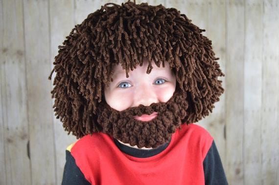 Perruque barbe chapeau Halloween Costume - n'importe quelle couleur - Hobo - Costume d'Halloween Mad Scientist - Rasta-homme des cavernes-Boys