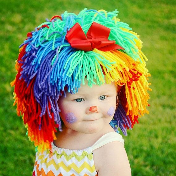 sc 1 st  Etsy & Clown Costume Halloween Costumes Baby Hat Baby Girl Clown Wig