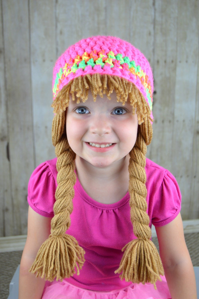 59a2b38fa0c3a Baby Hats Cabbage Patch Wig Gift for girls Cute Winter Hat or