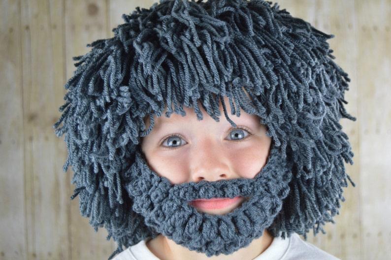 228e52f3d21 Wig Beard Hat Halloween Costume Any Color Hobo Mad