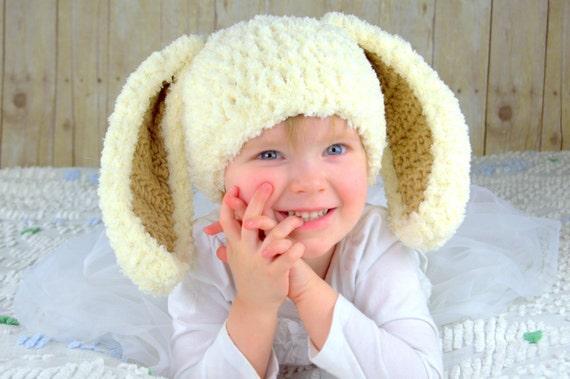 Coniglietto cappelli crema e marrone lanuginoso Pasqua  202dad2d1c15