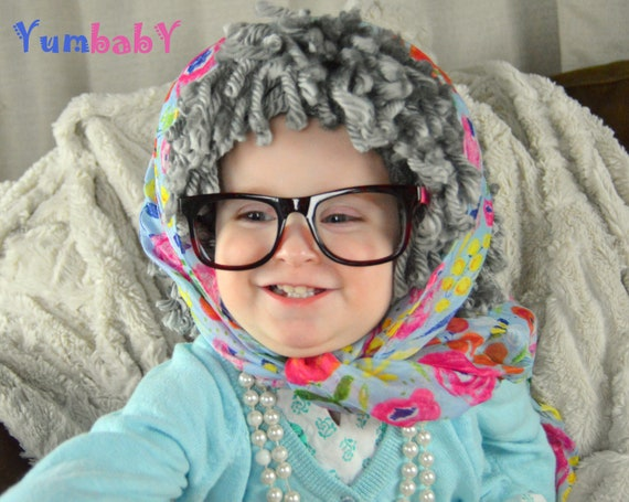 Oma Hat Garn Perucke Alte Dame Perucke Babuschka Halloween Etsy