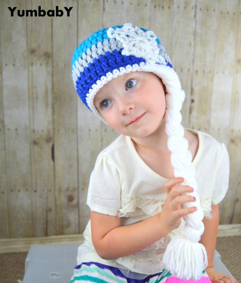 86bfd54387d Elsa Hat Halloween Costume Queen Elsa Inpired Hat Warm