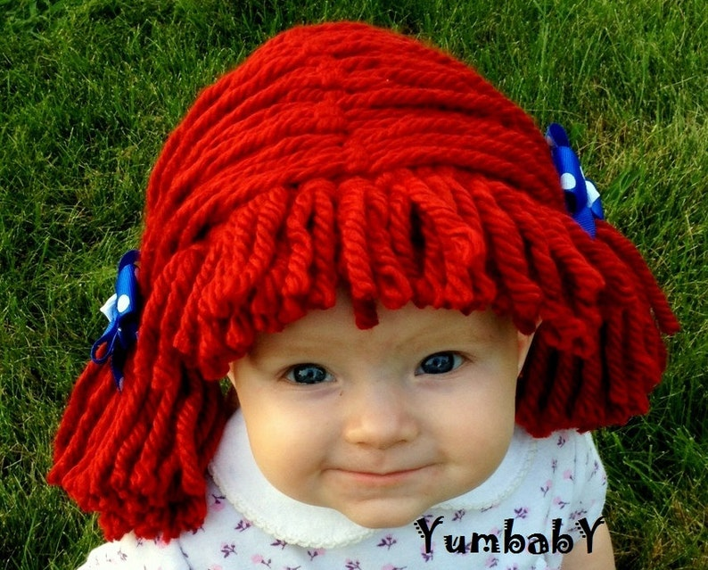 Raggedy Ann Wig Halloween Costume Baby Wig Baby Costume Etsy