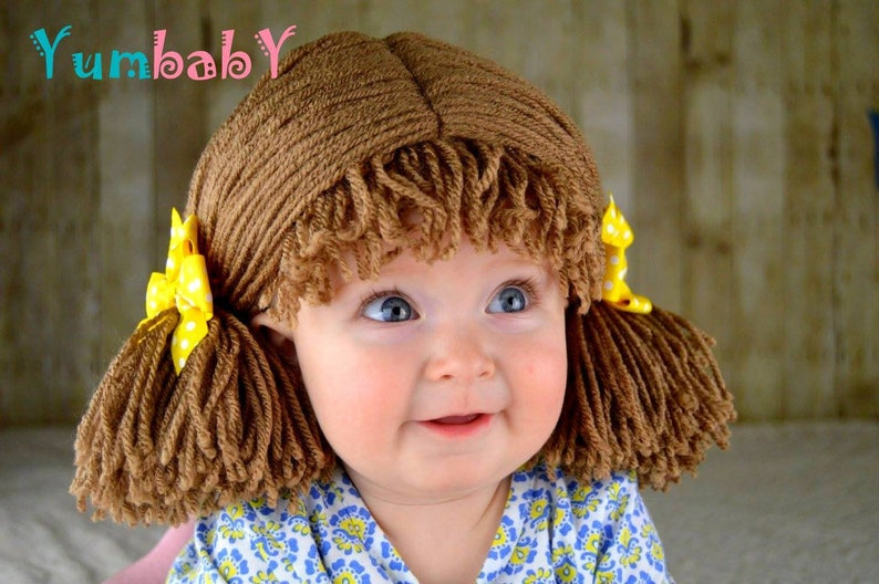 3a1129fcd2a Halloween Costume Kids Costumes Cabbage Patch Wig Pigtail