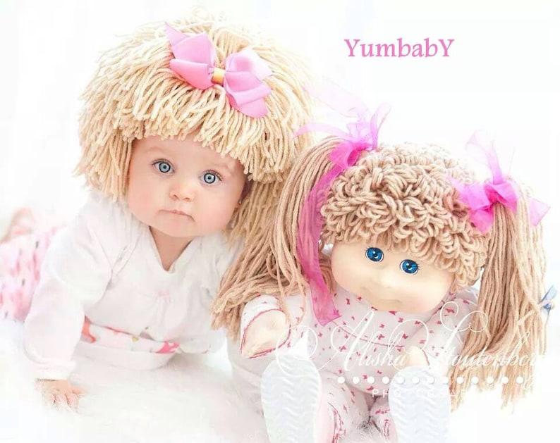 Col parche Hat gorro peluca traje de bebé disfraces para  815721cb8ea