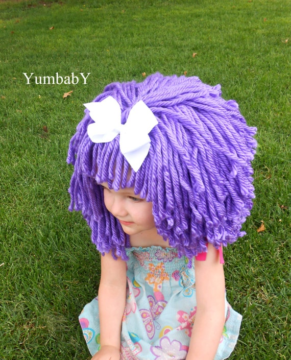 purple wig halloween costume for girls toddler costumes hats for kids lalaloopsy inspired wig purple