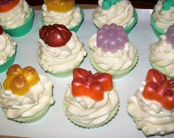 Poured Shea Butter Cupcake Soap - Spring Energy Fragrance
