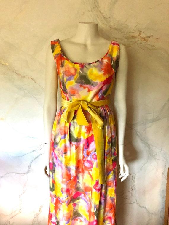 Vintage Suzy Perette New York Long Summer Dress Fl