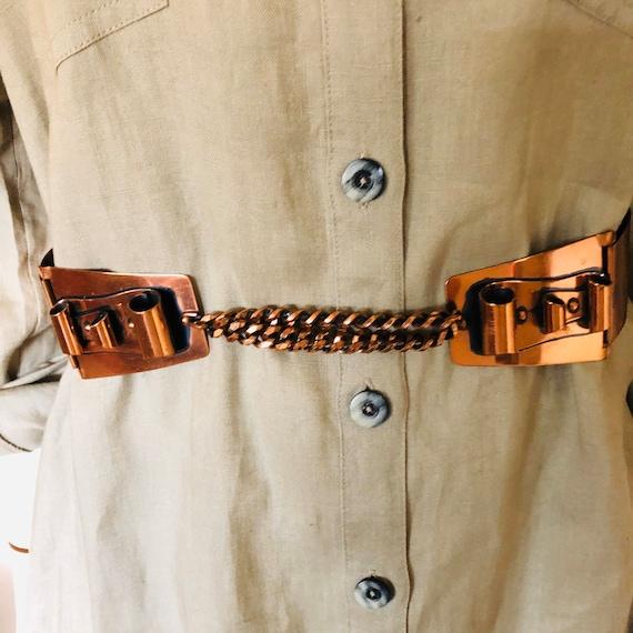 Mid Century MCM Copper Belt by Renoir California S
