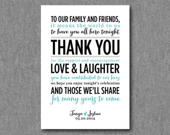 DIY Printable wedding thank you sign