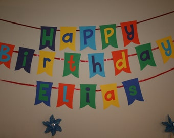 Happy Birthday Banner (Personalized)