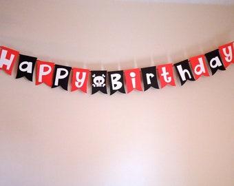 Pirate Happy Birthday Banner