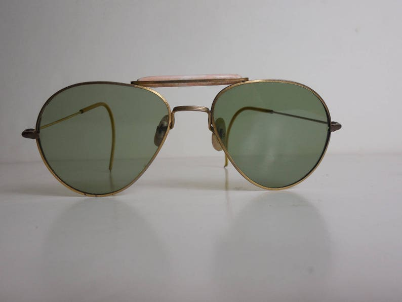 b1206fe927f56 VTG 1940s Aviator Sunglasses with Sweat Band