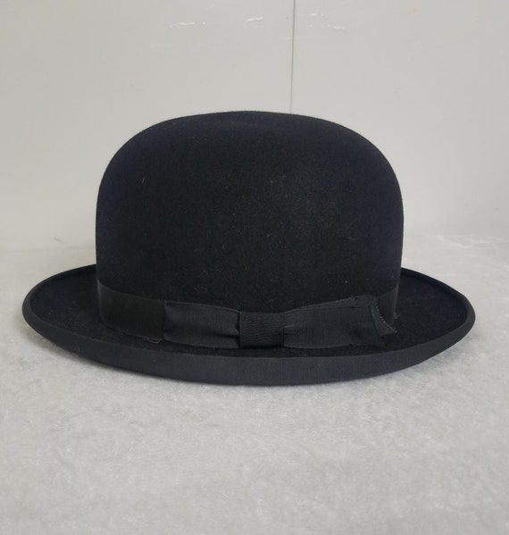 Black Felt Bowler Derby Hat by Herbert Johnson for Brooks  c291b3991de