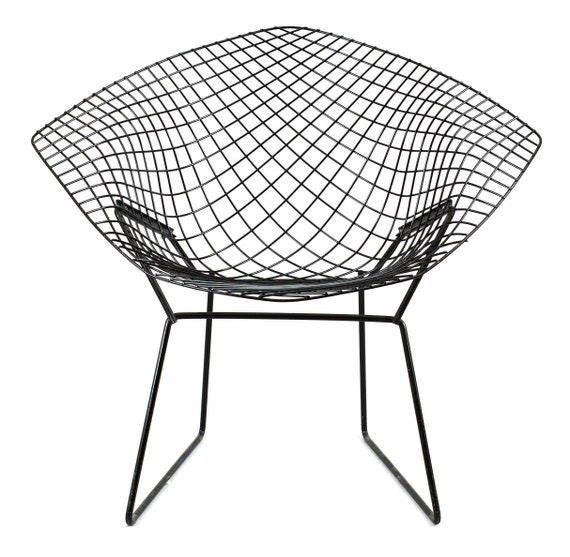 authentic knoll diamond chair by harry bertoia 421 original etsy Best Red Wines 2018 image