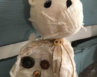 Rustic Halloween mummy/ Primitive mummy