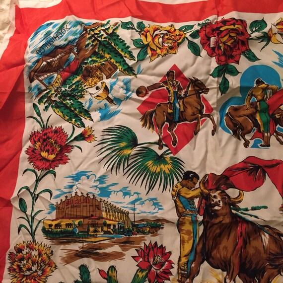 El Matador Mexicano Vintage Souvenir Scarf - image 3