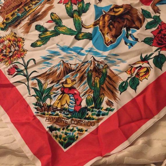El Matador Mexicano Vintage Souvenir Scarf - image 5