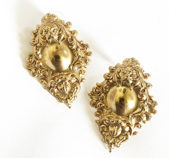 Gorgeous art nouveau gold earrings