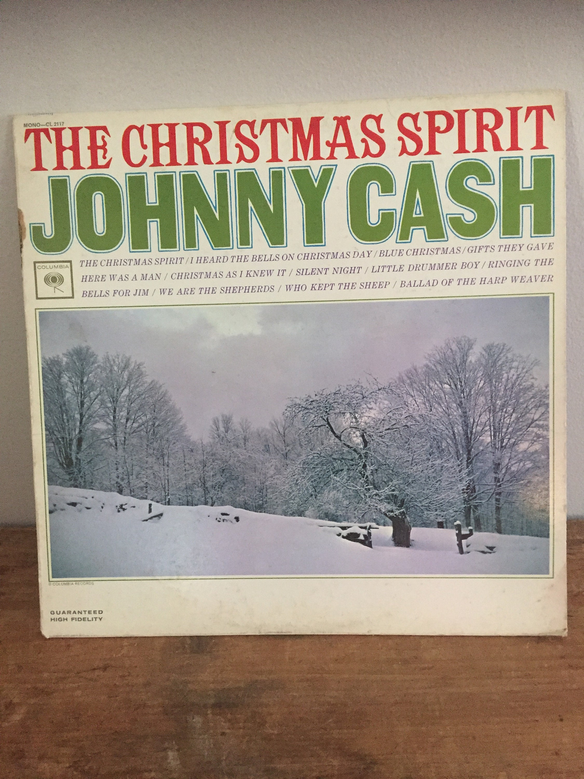 Vintage 1963 Johnny Cash The Christmas Spirit | Etsy