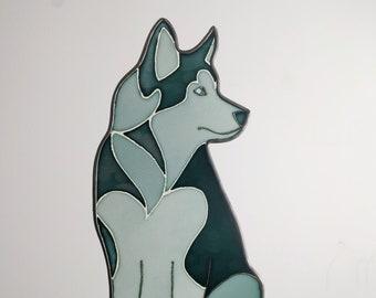 Husky stained glass