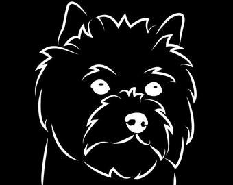 Cairn Terrier Vinyl Car Decal