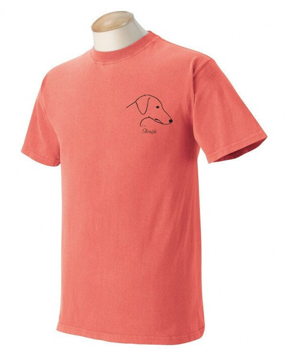 Cirneco dell' Etna Garment Dyed Cotton T-shirt u9Si78