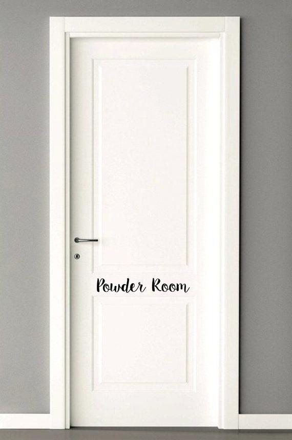 Powder Room Decal Bathroom Door Decal Powder Room Door Decals Door Decal Restroom Door Decal Powder Room Door Sticker