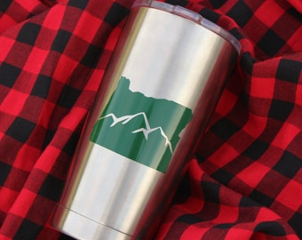 Oregon Decal, PNW Decals, Oregon Car Decal, Oregon Laptop Decal, PNW Car Decal, pnw Sticker, PNW Decal for Laptop, Flask Decal, Hiking Decal