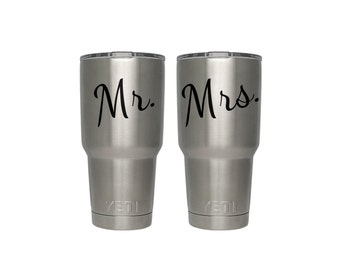 Mr. & Mrs. Decals | His and Hers Decals, Newly Weds, Tumbler Decals, Wedding Decals, Unique Wedding Gifts, Couples Gifts, Mr + Mrs