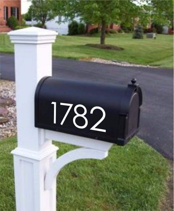 2.5 inch Mailbox Numbers Modern Font  Custom Mailbox Stickers 2 pc