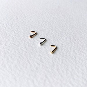 9ct Solid Gold Tiny nose stud 16 each or two for 25