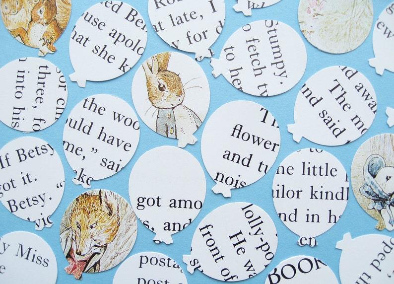 Baby Party Christening Birthday Beatrix Potter Confetti 50 to 400 Hearts