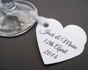 10 Personalised Flower Seed Heart Favours - Custom Tags - Wedding, Favour, Table Decor, Wishing Tree