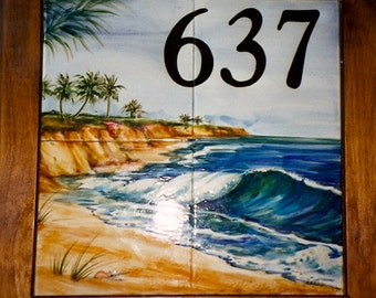 Address Tile/Ocean Scene