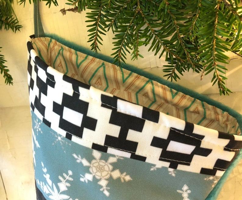 Handmade Pet Stocking White Black Dog Bone Stockings Christmas Blue Blue Dog Christmas Stocking Personalized Holiday Decor