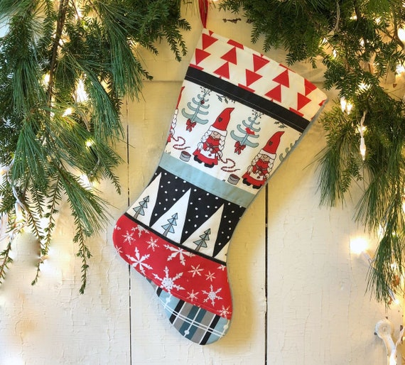 Red Christmas Stocking.Blue Red Christmas Stockings Family Set Up To 7 Quilted Personalized Traditional Nordic Holiday Stocking Country Modern Farmhouse