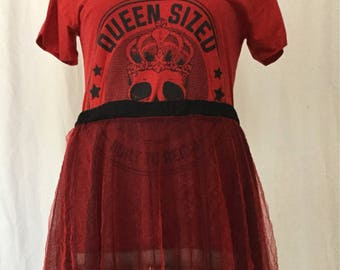Black and Red Sheer Skirt