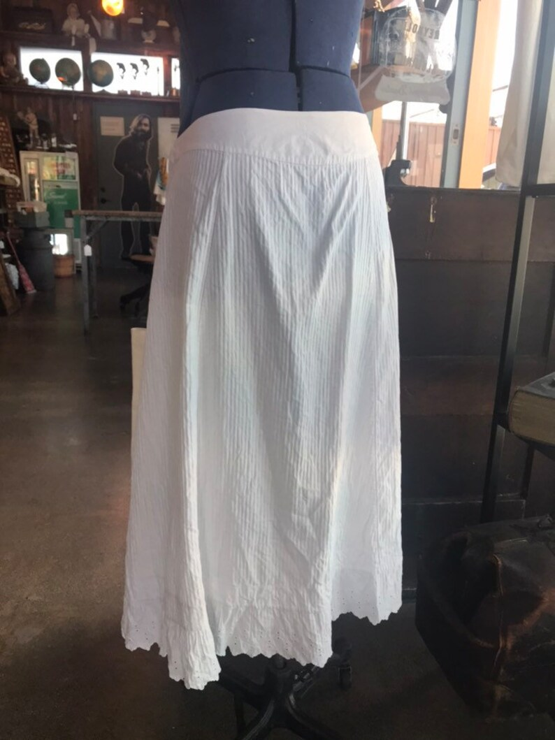 Vintage french penefore skirt image 0