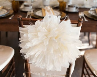 Peony Flower Wedding Chair Cover/ Chiavari Chair Cover/ Bride and Groom/ Chair sash wedding decoration/ Fancy chair cover & Wedding chair cover   Etsy