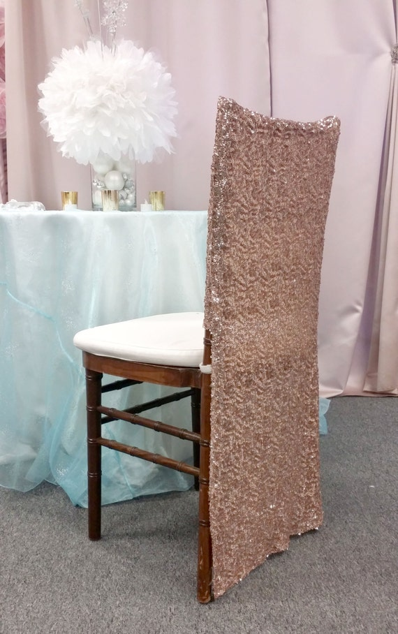 Brilliant Rose Gold Full Sequin Chiavari Chair Cover Special Chiavari Chair Cover Bride And Groom Quinceanera Chair Covers Alphanode Cool Chair Designs And Ideas Alphanodeonline